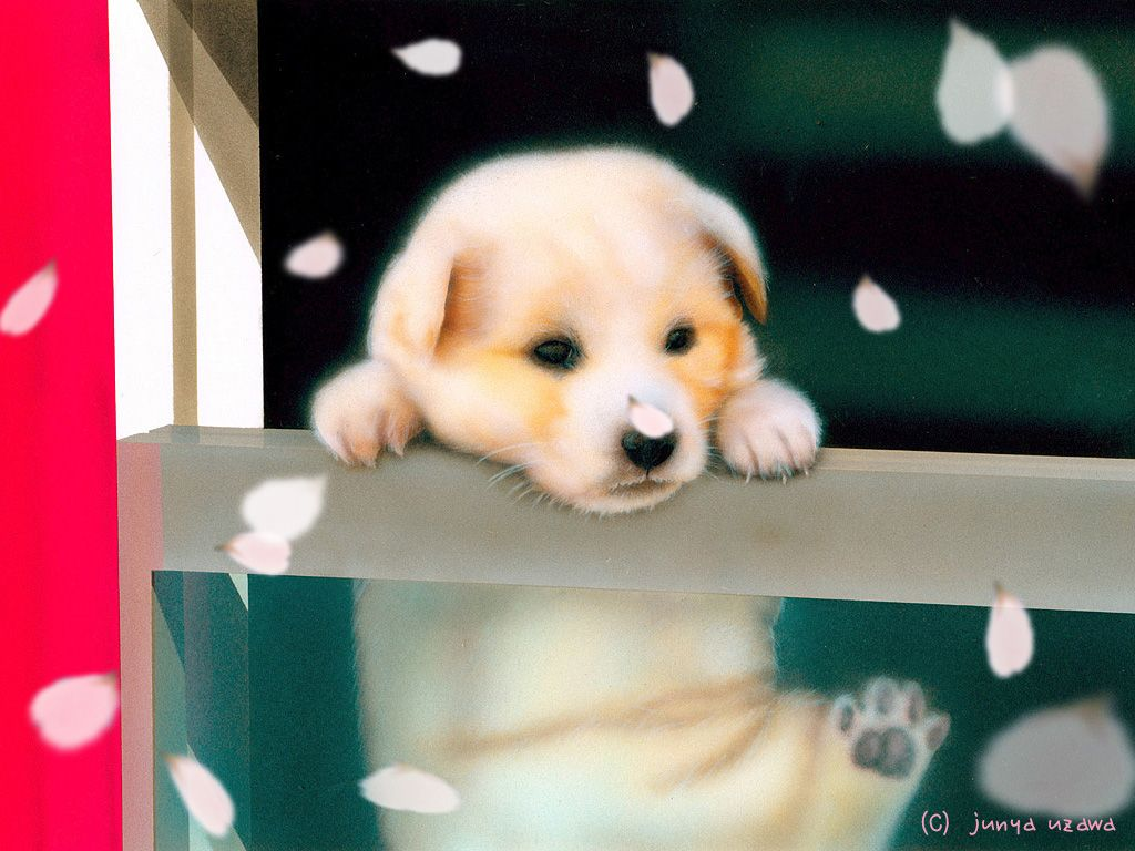 子犬の絵:Departures