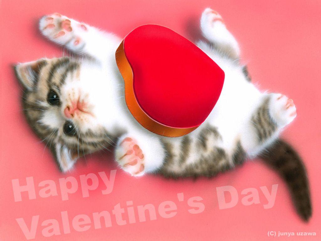 子猫の絵:Heart ~チョコもらったYO!~