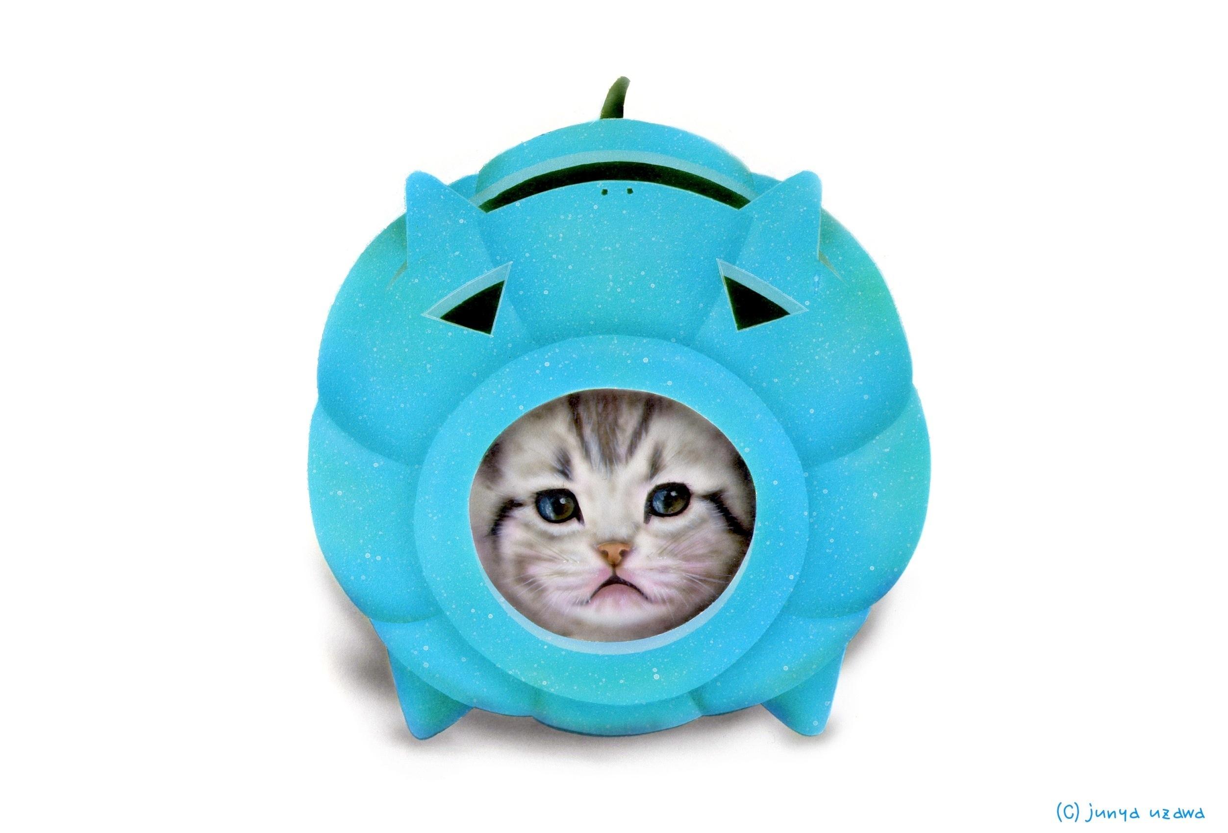 子猫の絵:かとりにゃんこう -Halloween version- 初音ミクカラー