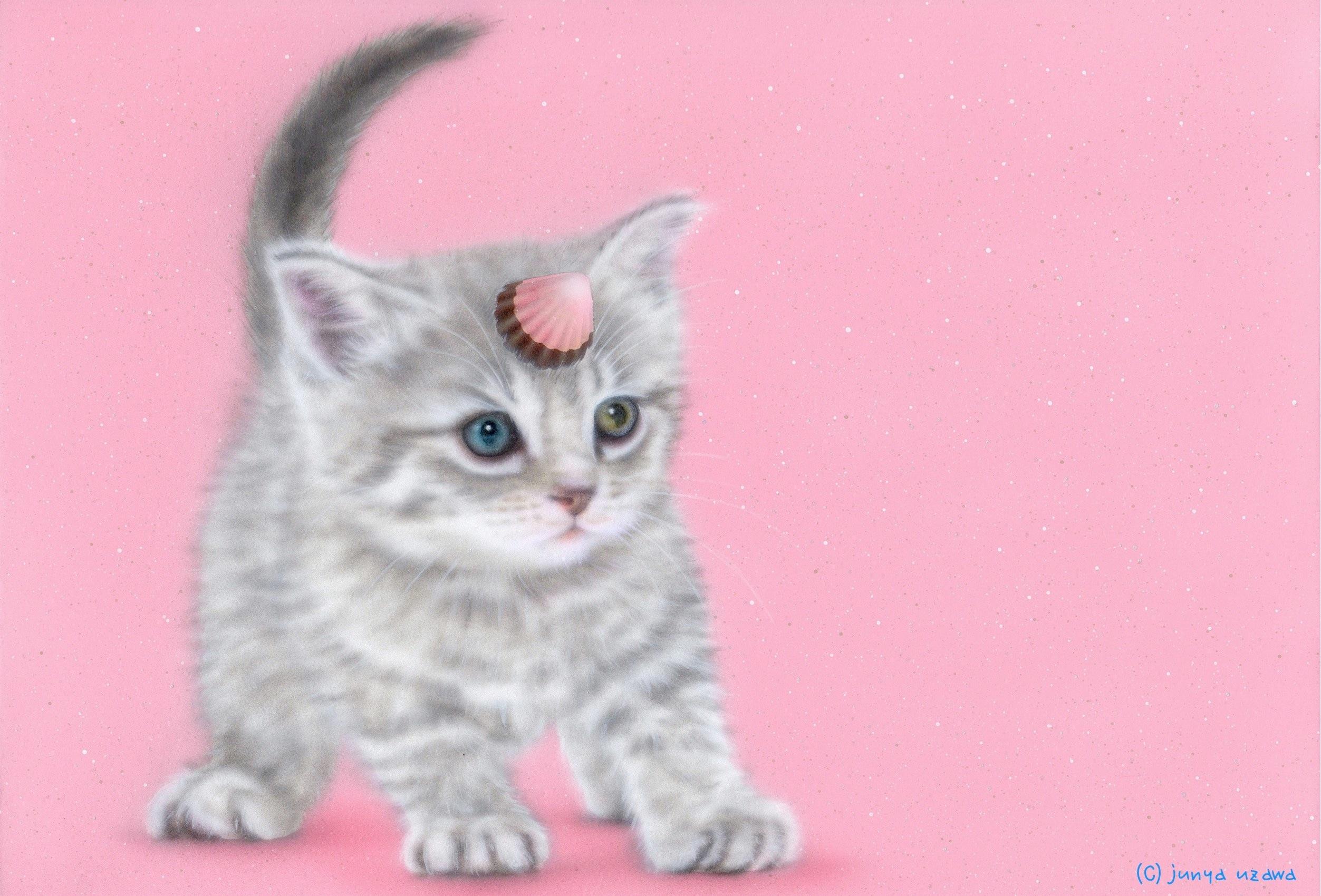 子猫の絵:鬼ゃんこ:アポロ